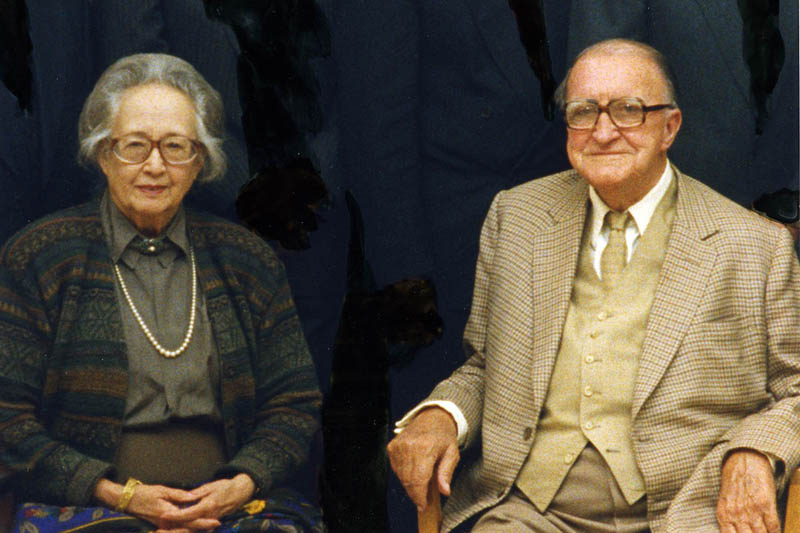 Leon MacLaren and Mrs. van Oyen in Amsterdam, 1990